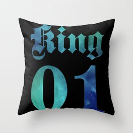 Valentine's Day King - Queen KING 7 Space Throw Pillow