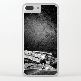 interstellar journey landscape (human) Clear iPhone Case