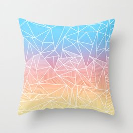 Bakana Rays Throw Pillow