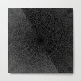 Faint Mandala Metal Print