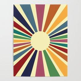 Sun Retro Art II Poster
