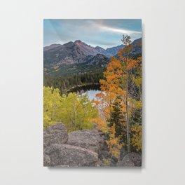 Rocky Mountain Autumn Sunset Colorado National Park Fall Landscape Metal Print