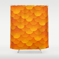 goldfish Shower Curtains featuring Goldfish by Screen Candy