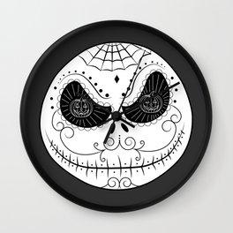 Jack's Skull Sugar (Vector Mexican Skull) Wall Clock