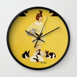 """C Coles Phillips 'Fadeaway Girl' """"A Friend of the Family"""" Wall Clock"""
