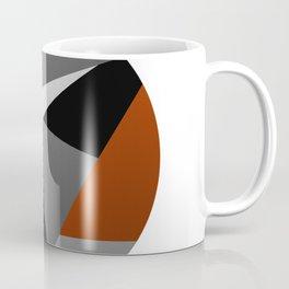 Metallic Moon - Abstract, metallic textured geometric moon space artwork Coffee Mug