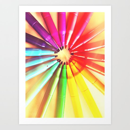 Color markers Art Print