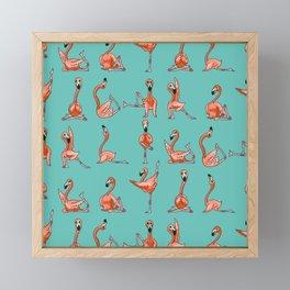 Flamingo Yoga Framed Mini Art Print