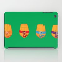 ninja turtle iPad Cases featuring Michelangelo Turtle  by Salina Ayala