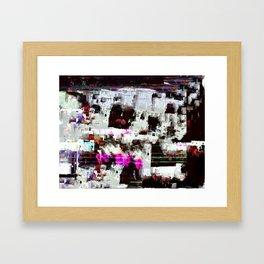 RED CAVERN Framed Art Print