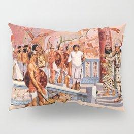 "Classical Masterpiece ""Egyptian Ramesses II Throne Room"" by Herbert Herget Pillow Sham"