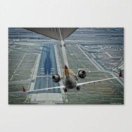 Flap fail landing Canvas Print