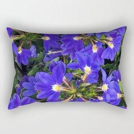Blue-Purple Firecracker Explosion of Flowers Rectangular Pillow