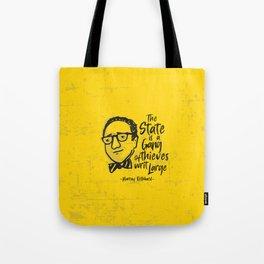 Murray Rothbard Illustration Tote Bag