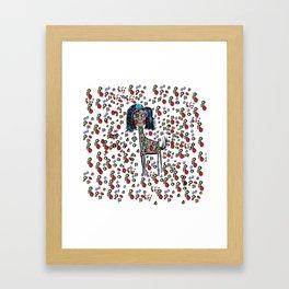 Giselle the Giraffe Framed Art Print