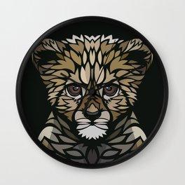 Tribal baby gepard Wall Clock