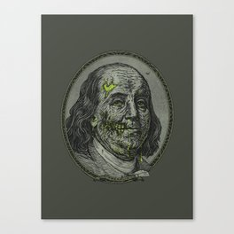 BENJAMIN FREAKLIN Canvas Print
