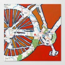 Bike Moab Canvas Print