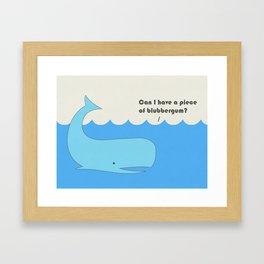 I must whale you Framed Art Print