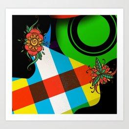 CrazyCollage Art Print