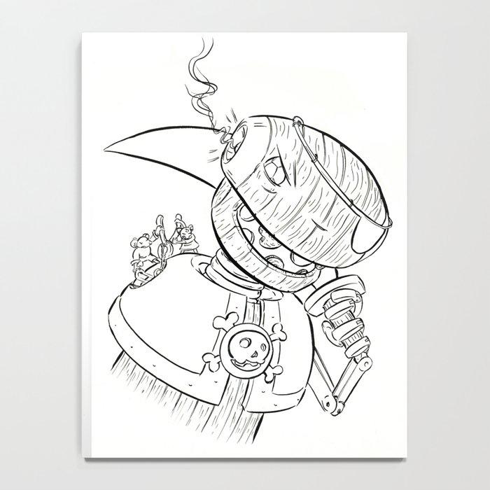 Robot Pirate - ink Notebook