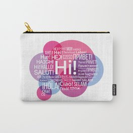 """The words """"Hi"""" compound in the form of a bubble talk in the languages of European countries Carry-All Pouch"""