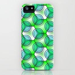 Circles & Hexagons iPhone Case