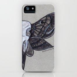 Crow Skull w/Moth Wings iPhone Case