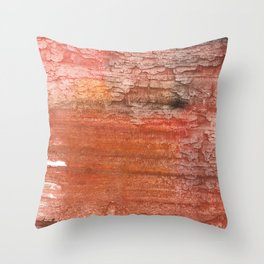 Sienna colored watercolor Throw Pillow