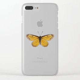 "Butterfly species Acraea issoria ""Yellow Coster"" Clear iPhone Case"