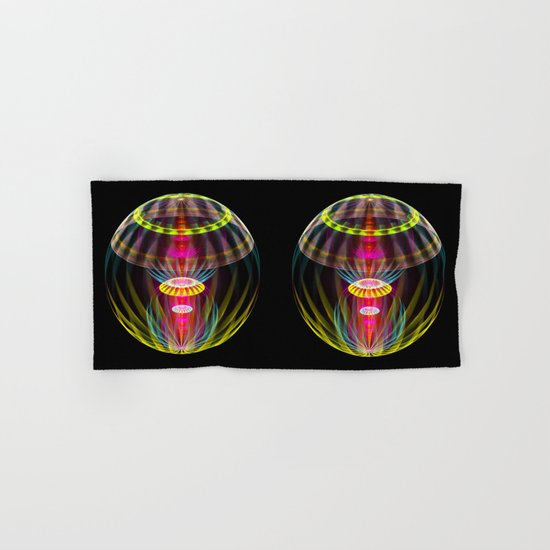 Alien sphere fractal fantasy Hand & Bath Towel
