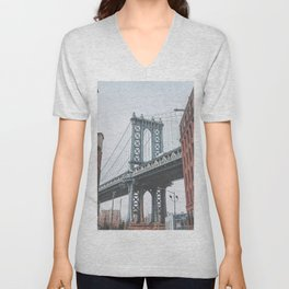 Dumbo Brooklyn New York City Unisex V-Neck
