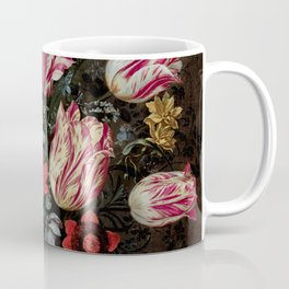 "Andries Daniels and Frans Francken the Younger ""Vase with Tulips"" Coffee Mug"