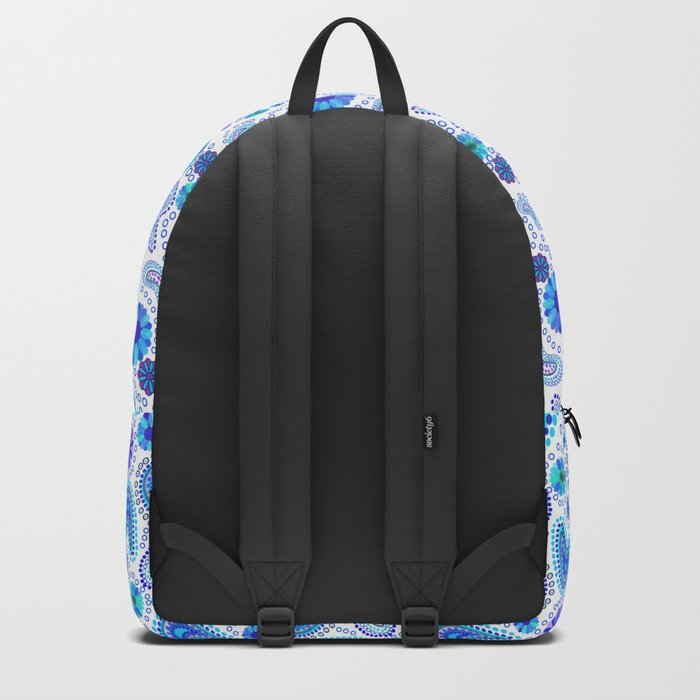 Paisley Power (White Background) Backpack