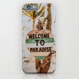 welcome to paradise / gili islands, indonesia iPhone Case