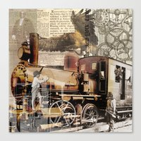 industrial Canvas Prints featuring Industrial by victorygarlic - Niki