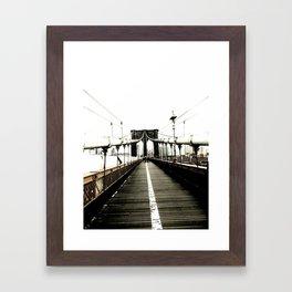brooklyn bridge. Framed Art Print
