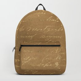 Antique copper writing Backpack
