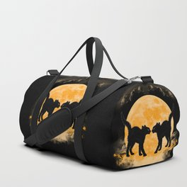 Black Cats Paradise Duffle Bag