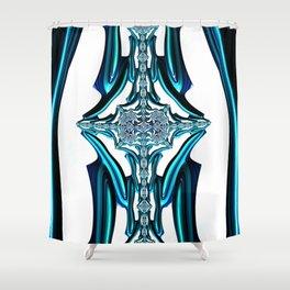 Blue Crystal Shower Curtain