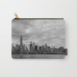 Lower Manhattan in Black and White Carry-All Pouch