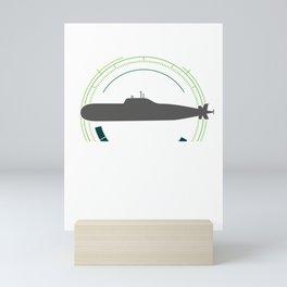 Long Hard And Full Of Seamen Funny Pun Submarine Watercraft Underwater Ship Gift Mini Art Print