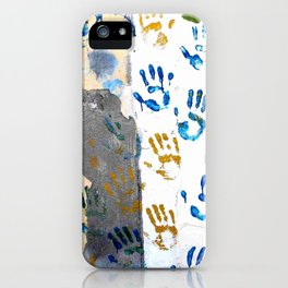 Handprints on the wall iPhone Case