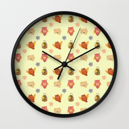 VALENTINE BIRDS Wall Clock