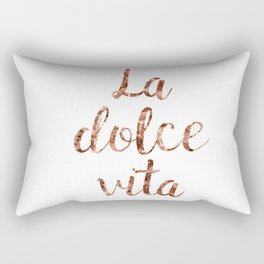 Rose gold La Dolce Vita Rectangular Pillow