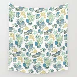 Pebbles in Light Blue Pattern Wall Tapestry