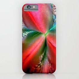 Red Ornate Burst - Inverted Art iPhone Case