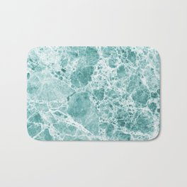 Tropical Sea Green Marble Bath Mat