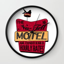 No-Tell Motel Wall Clock