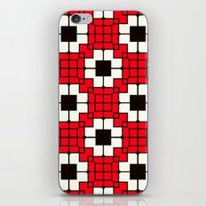 Retro Mosaic Red & Black iPhone Skin